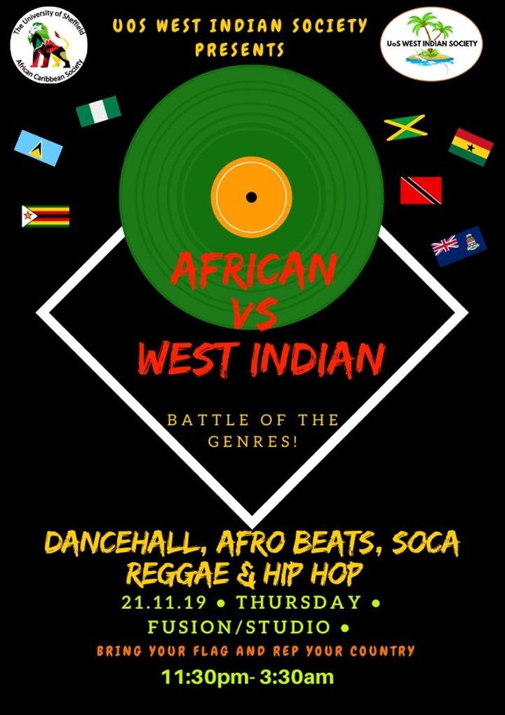 African vs West Indian Night