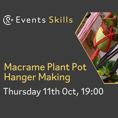 CR Events: Macrame Plant Pot Holder Making